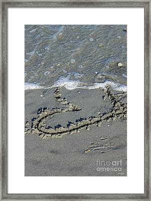 Heart Washing Away Framed Print by Jennifer White