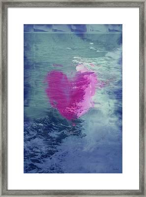 Heart Waves Framed Print by Linda Sannuti