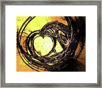Heart Waves Framed Print