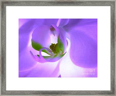 Heart Wide Open Framed Print by Krissy Katsimbras