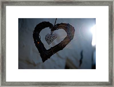 Heart With A Heart II Framed Print