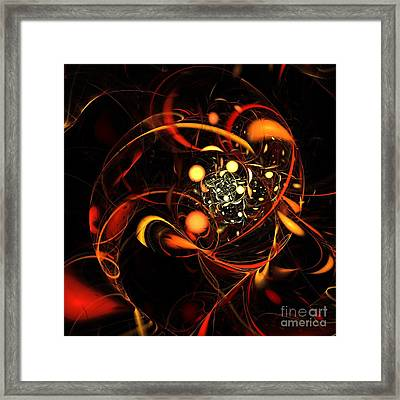 Heartbeat Framed Print by Oni H