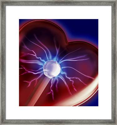 Heartbeat Framed Print by Sandy Ostroff