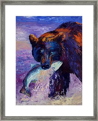 Heartbeats Of The Wild Framed Print by Marion Rose