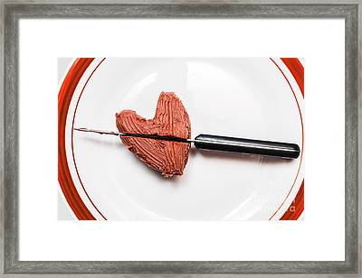 Heartbreak Cake Framed Print