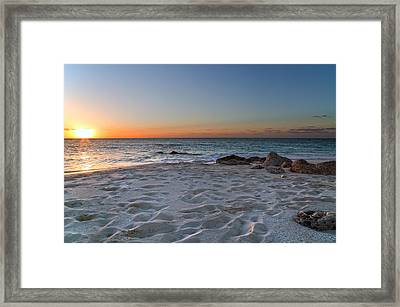 Heartbreak Sunset Framed Print