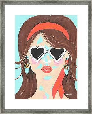 Framed Print featuring the painting Heartbreaker by Kathleen Sartoris