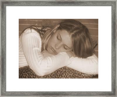 Heartbroken Framed Print by Kathy Roncarati