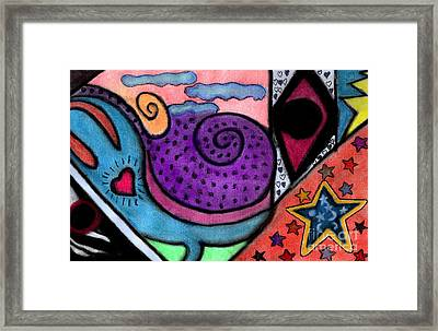 Framed Print featuring the mixed media Heartfelt by Christine Perry
