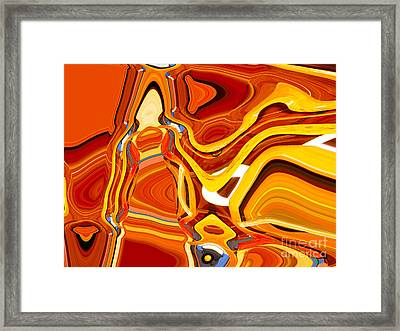 Heartfelt Delivery Framed Print by Ann Johndro-Collins