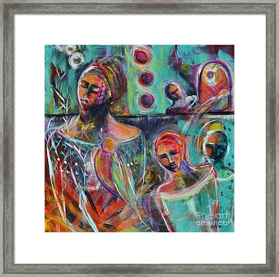 Hearth Of Connection Framed Print by Gail Butters Cohen