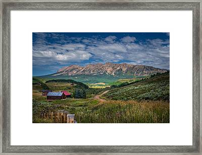 Heartland Of The Colorado Rockies Framed Print by Michael J Bauer