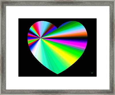Heartline 3 Framed Print