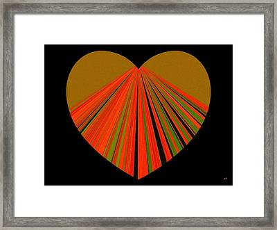 Heartline 5 Framed Print