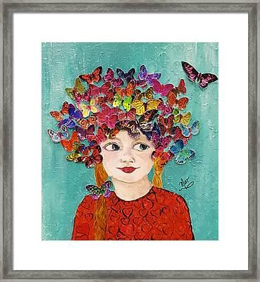 Hearts A Flutter Framed Print