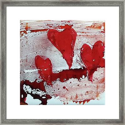 Hearts Afire Framed Print