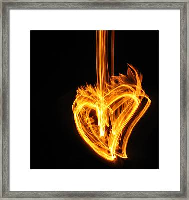 Hearts Aflame -falling In Love Framed Print