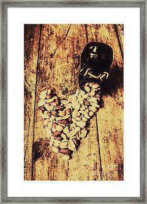 Hearts And Spills Framed Print