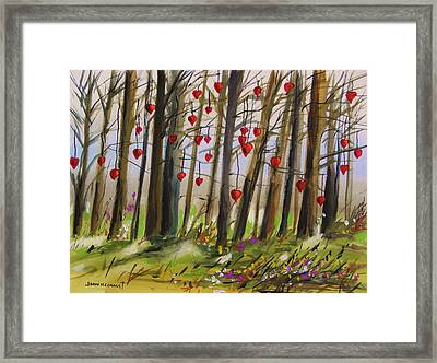 Hearts At Dusk Framed Print