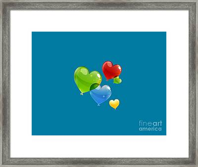 Hearts 11 T-shirt Framed Print by Herb Strobino