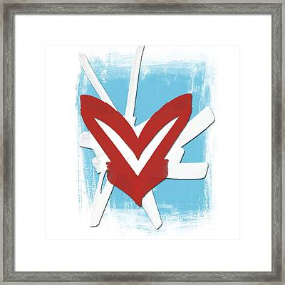 Hearts Graphic 4 Framed Print by Melissa Smith