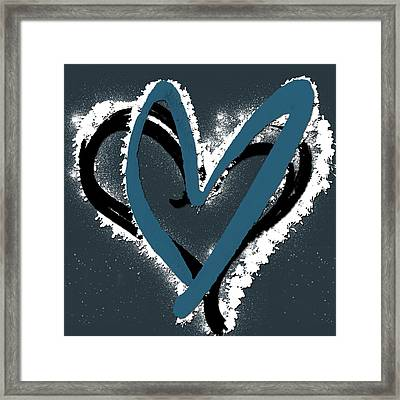 Hearts Graphic 8 Framed Print by Melissa Smith