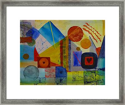 Hearts In The City Framed Print by Pat Stacy