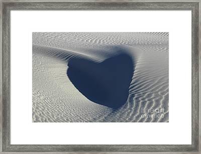 Hearts In The Desert Framed Print