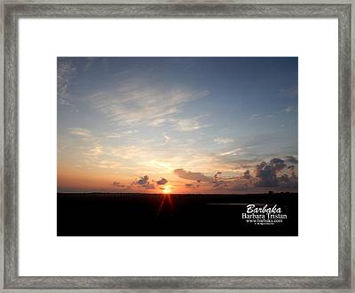 Hearts In The Distance Framed Print by Barbara Tristan