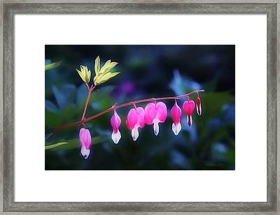 Hearts In The Dusk Framed Print
