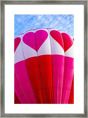Hearts In The Sky Framed Print by Teri Virbickis