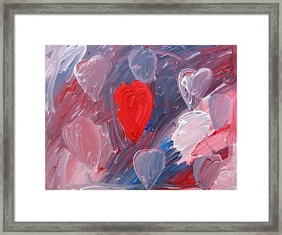 Hearts Framed Print by Kiely Holden