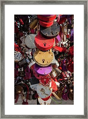 Hearts Locked In Love Framed Print