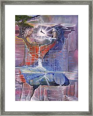 Hearts Of Fire Framed Print by Sevan Thometz