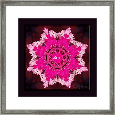 Framed Print featuring the photograph Hearts Of Love by Barbara MacPhail