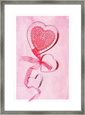 Framed Print featuring the photograph Hearts by Rebecca Cozart