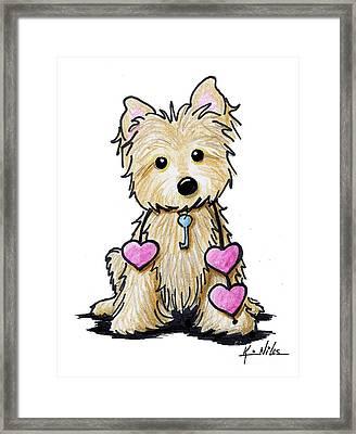 Heartstrings Cairn Terrier Framed Print by Kim Niles