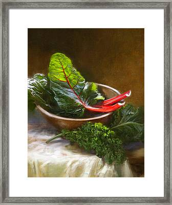Hearty Greens Framed Print
