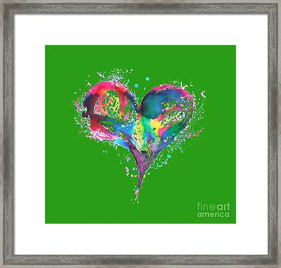 Hearts 6 T-shirt Framed Print by Herb Strobino
