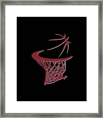 Heat Basketball Hoop Framed Print