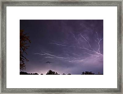 Heat Lightning Framed Print