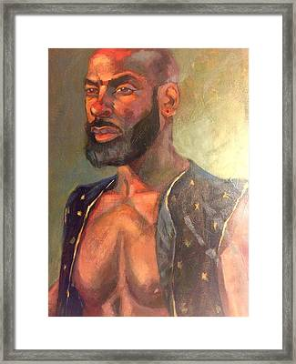Framed Print featuring the painting Heat Merchant by JaeMe Bereal