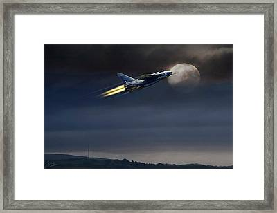 Framed Print featuring the digital art Heat Of The Night by Peter Chilelli