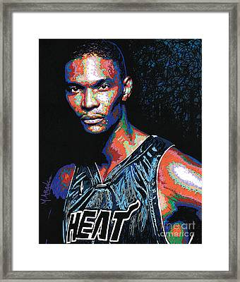 Miami Heat Pride Framed Print by Maria Arango