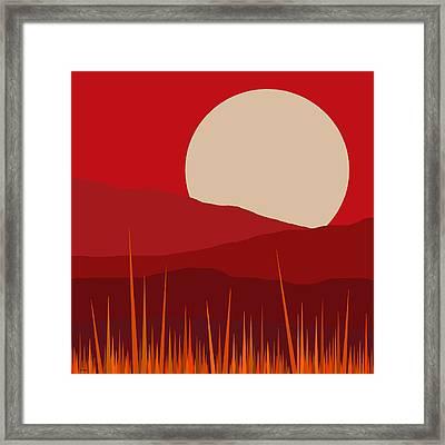 Heat - Red Sky  Framed Print