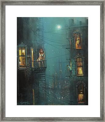 Heat Wave Framed Print