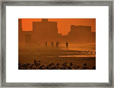 Heat Waves Framed Print