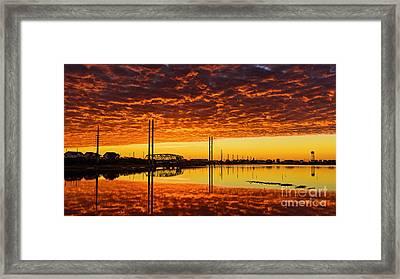 Swing Bridge Heat Framed Print