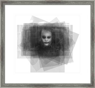 Heath Ledger As The Joker Framed Print by Steve Socha
