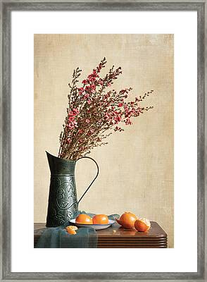 Heather And Oranges Framed Print